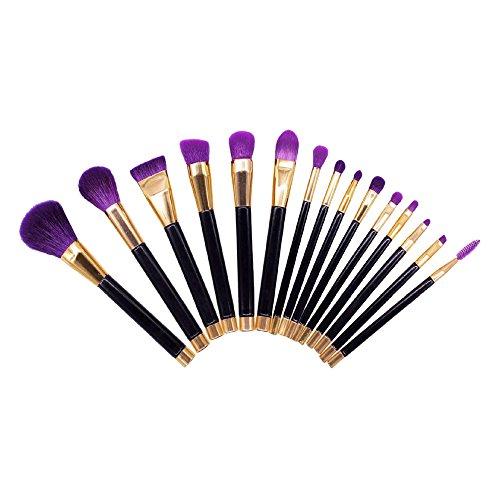Contever® 15 pz Pro Pennelli per trucco Makeup Brushes Cosmetics-Pennello (Viola)
