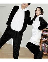 Pyjamas Adulte Unisexe - Costume de Peluche en Peluche à une Pièce en Peluche Hiver