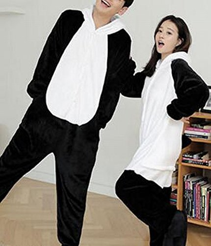 Unisex Adult Pyjamas - Plüsch One Piece Cosplay Tier Kostüm Winter,Panda,XL (Koala Bär Hund Kostüm)