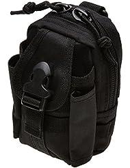 Mil-Tec - Custodia di Colore Nero Commando Cinturone