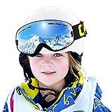 COPOZZ Skibrille Kinder G3 Ski Snowboard Brille Brillenträger Snowboardbrille Schneebrille