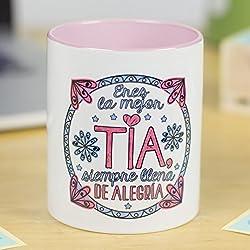 Taza cerámica de café o desayuno para tu tía.