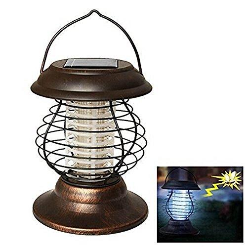 MXNET 0.3 W Solaire Alimenté UV Bug Zapper Répulsif Insecte Peste Insectes Mosquito Tueur LED Lampe de Jardin et Lanterne pour Camping Randonnée Cour Extérieur ,Led Ampoules