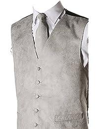 Efecto de ante 10 colores para hombre chaleco - disponible a juego corbata