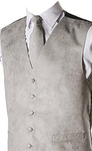 Gilet pour homme Imitation daim avec embrasses assorties 10 couleurs disponibles Gris - Gris