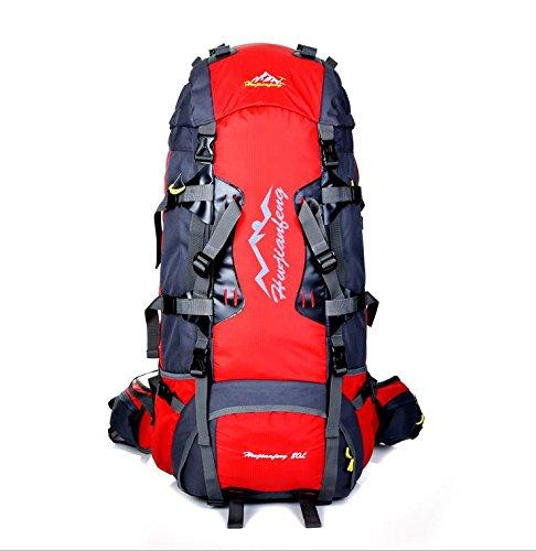 BM 80L allmountain outdoor sport zaino zaino , royal blue Red