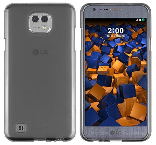 mumbi Schutzhülle für LG X Cam Hülle transparent schwarz