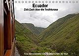Ecuador Zick-Zack über die Teufelsnadel (Tischkalender 2020 DIN A5 quer): Eine der schönsten Eisenbahnstrecken der Welt (Monatskalender, 14 Seiten ) (CALVENDO Orte) -