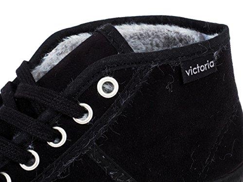 Victoria - Botin blucher - Chaussures mode ville Noir