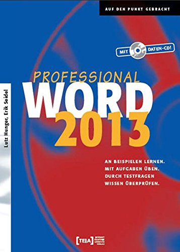 Word 2013 Professional, m. CD-ROM (Microsoft Office Word 2013, Handbuch)
