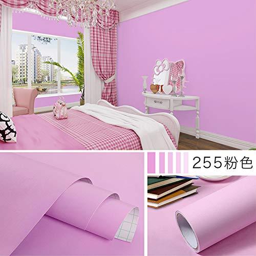 Einfarbig dicke tapete schlafzimmer aufkleber dekoration hintergrund wand papier wasserdicht aufkleber einfarbig 255 rosa