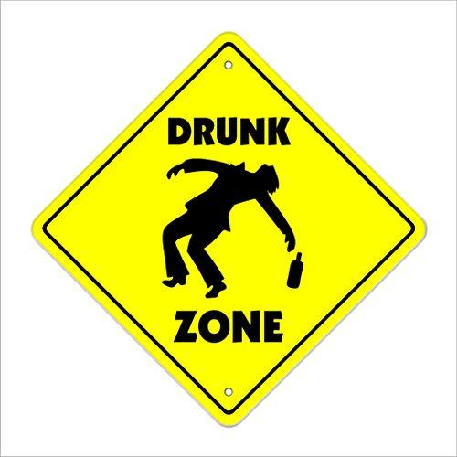 Drunk Crossing Sign Zone Xing  -  30,5cm Hoch Trinker Bier Boozer Happy Hour Schankmaid Tippen Brewer - Bier Tippen