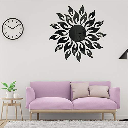 Pegatinas Decorativas Pared Forma de la flor del sol espejo etiqueta de la pared moderna diy calcomanía...