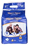#4: Wyper Dyper - Open Style Adult Diapers with 8 Hrs of Protection, For Men and Women, Medium,Pack Qty-10 Counts