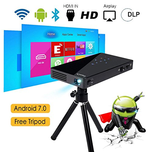 Vidéoprojecteur HD, ExquizOn P8I Mini Vidéoprojecteur DLP Android...