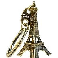 Providethebest Torre Eiffel Modelo retro llavero de París Llavero de metal de Split Key llavero anillo