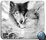 Tapis de Souris de Jeu, Tapis de Souris de Rectangle personnalisé par Loup d'animal, Tapis de Souris adapté aux Besoins du Client par Ordinateur Confortable de Caoutchouc antidérapant imprimé