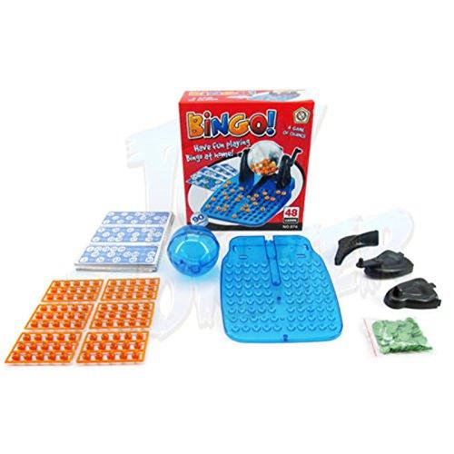 JieMiTe Retro Klassisches Lotto-Bingo-Spiel Spielzeug, Maschinen-Drehkäfig-Familien-Partei-pädagogisches Spiel-Spielzeug