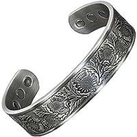 Herren Magnettherapie Armband Kupfer Armband für Arthritis Gesundheit Armband Heilung Armreif Keltischer Silber... preisvergleich bei billige-tabletten.eu