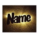 Schlummerlicht24 Led Wand Holz Nachtlicht Kinder-Lampe aus Wunsch Namen als Taufgeschenk Baby-Geschenke Geburtsgeschenk Kinder-Zimmer für die Mutter Paten-Tante Junge Jungs Mädchen individuell personalisiert
