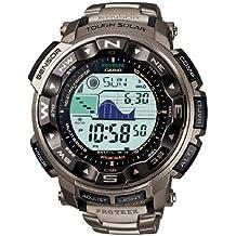 Casio PRW-2500T-7ER - Reloj digital de caballero de cuarzo con correa de titanio plateada