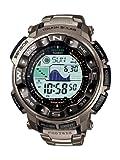 Casio Pro Trek Herren Uhr Digital mit Titanarmband PRW-2500T-7ER