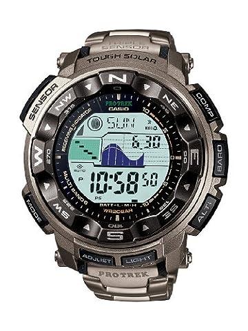 Casio Herren-Armbanduhr XL Pro Trek Digital Quarz Titan PRW-2500T-7ER