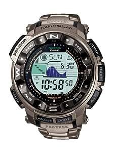 Casio - PRW-2500T-7E - Pro-Trek - Montre Homme - Automatique Digital - Cadran LCD - Bracelet Titane Gris