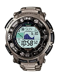 Casio Men's Pro Trek Digital Watch with Titanium Bracelet PRW-2500T-7ER (B005FEY3PE) | Amazon price tracker / tracking, Amazon price history charts, Amazon price watches, Amazon price drop alerts