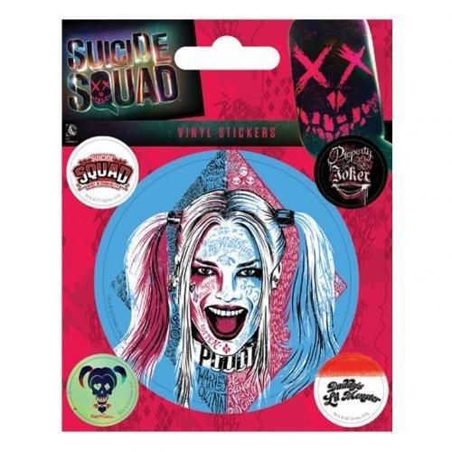 l Suicide Squad (Harley Quinn) Vinyl Aufkleber, Papier, mehrfarbig, 10x 12,5x 1,3cm (Harley Quinn Aufkleber)