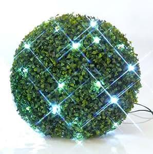 Buis boule de buis artificiel avec clairage led int rieur for Boule de buis artificiel pour exterieur