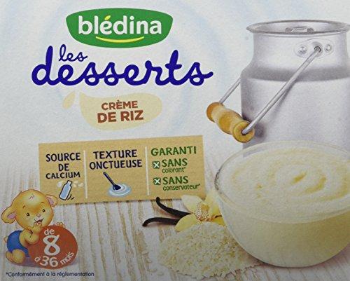 Les Desserts Crème de Riz de 8 à 36 mois 4 x 100 g - Pack de 6,BLEDINA,