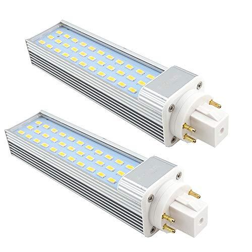 bonlux 2-pack 13w gx24 4 pin led retrofit lampada bianco caldo 3000k 180 gradi 26w fluorescent equivalente lampadina led gx24q / g24q pl orizzontale incasso giù luce (rimuovere / bypass del ballast)