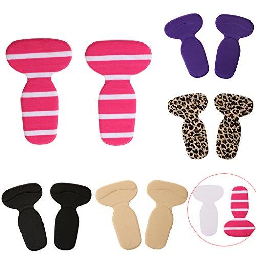 Gazechimp 1 Paar T-Form Absatzschuhe Einlegesohlen, Selbstklebend Pads, Komfort und Schmerzenreduzierung Schuheinlagen Hautfarbe
