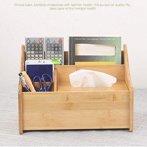 Massivholz Schreibtisch-Aufbewahrungsbox Kosmetik Box TV Fernbedienung Aufbewahrungsbox Desktop Wohnzimmer Einfache Couchtisch Aufbewahrungsbox (groß)