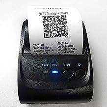 izura (TM) 58mm Mini Portátil Impresora térmica de recibos pos-5802dd para Windows para Android para iOS Smartphone con Bluetooth 4.04,3