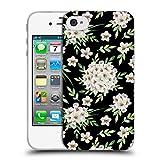 Head Case Designs Offizielle Julia Badeeva Weisser Blumenstrauss 1 Gemischte Muster 4 Soft Gel Hülle für iPhone 4 / iPhone 4S