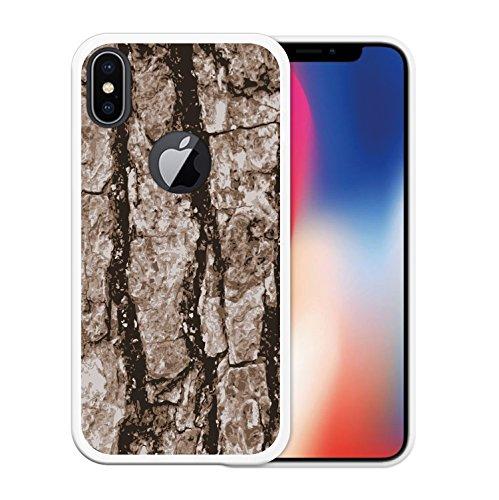 iPhone X Hülle, WoowCase Handyhülle Silikon für [ iPhone X ] Weißer und blauer Marmor Handytasche Handy Cover Case Schutzhülle Flexible TPU - Transparent Housse Gel iPhone X Transparent D0211