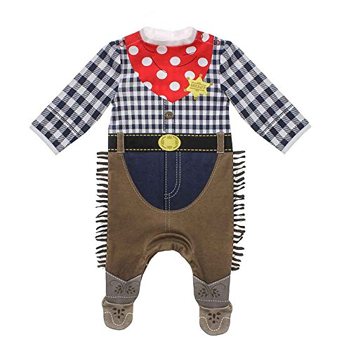 Moozels Baby Jungen (0-24 Monate) Body Cowboy 6-9 Monate