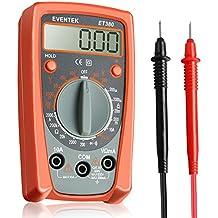 Multimetro Digitale, Eventek ET380 Mini Multimetro Tester Manual Range Test DC Corrente, DC/AC Voltaggio, Resistenza con LCD Retroilluminazione