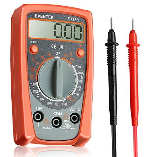 Digital Multi-tester (Digital Multimeter, Eventek ET380 Mini Multi Tester Spannung AC/DC, DC Strom, Diode,Widerstand, Ausgangswelle Rechtecksignal)