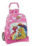 Barbie Unicornio - Mochila grande con carro Evolution extraíble, Trolley (Safta 611810860)