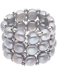 Pebbles - Anillo de acero con perla