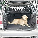 AIHOME Hunde Sicherheit Netz Haustier Rücksitz Barriere Auto Sicherheitsnetz Fahrzeug Schutznetz Trennnetz Hundegitter für Auto ca. 120 x 70cm