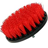 Drill Brush Power Scrubber Rouge 13cm Fixation pour perceuse sans fil d'alimentation pour le nettoyage Scrubber applications Pierre conrete Piscine Carrelage platelage Surfaces de bateau