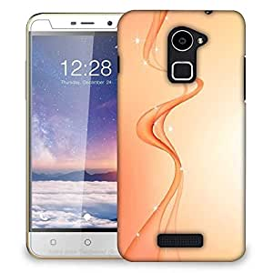 Snoogg Abstract Orange Waves Designer Protective Phone Back Case Cover For Coolpad Note 3 Lite