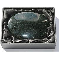 Groß, Grün Goldstone-Edelstein Palmstone–7cm x 5cm im Geschenkkarton preisvergleich bei billige-tabletten.eu