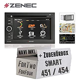 Zenec-N720-2DIN-Smart-451454-ForTwo-ForFour-Naviceiver-Navigation-Navigationsradio-mit-BluetoothUSB-Autoradio