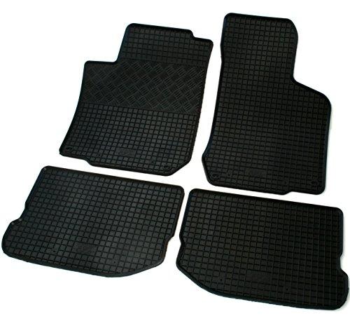 Juego de alfombrillas de goma negras para coche (ver modelos de vehículos compatibles en la descripción) alfombras de goma color negro esterillas moquetas esteras