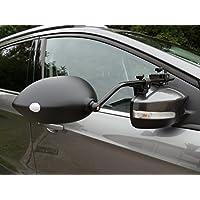Milenco Aero - Pack de Dos Espejos retrovisores convexos Extra Anchos, con sujeción, para la mayoría de vehículos
